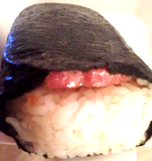 Spam musubi is what's up.